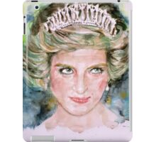 DIANA - PRINCESS of WALES - watercolor portrait.4 iPad Case/Skin