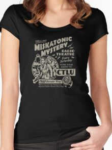 Miskatonic Mystery Radio Theatre Women's Fitted Scoop T-Shirt