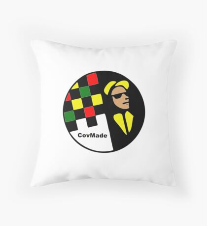 CovMade Red & Yellow Badge Throw Pillow