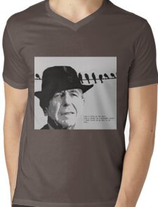 Cohen's Bird on a Wire Mens V-Neck T-Shirt