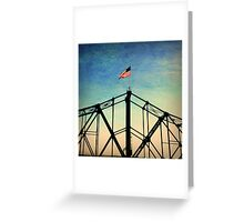 Stars and Stripes Flying Over Mississippi River Greeting Card