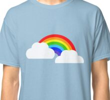 Rainbow within two white Clouds Classic T-Shirt