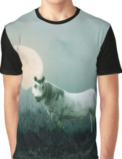 UNICORN & MOON GREY by Monika Strigel Graphic T-Shirt