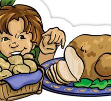Girl with Turkey Sticker