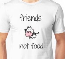 Friends Not Food- black text Unisex T-Shirt