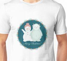 Yeti and snowman  Unisex T-Shirt