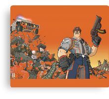 Officer Downe in action Canvas Print