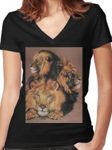 Shades of Amber Women's Fitted V-Neck T-Shirt