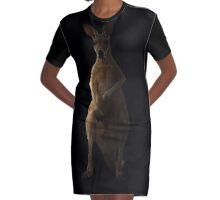 Kangaroo in the dark Graphic T-Shirt Dress