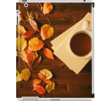 Cup of tea, books and autumnal foliage iPad Case/Skin