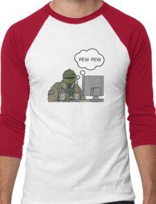 Pew Pew (mini) Men's Baseball ¾ T-Shirt