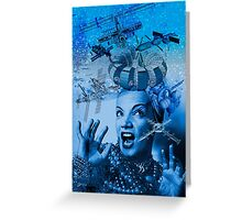 Carmen Miranda is A Cosmic Girl! Greeting Card