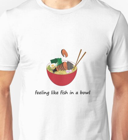 Fish in a bowl Unisex T-Shirt