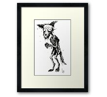 DECAY FOX Framed Print