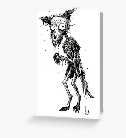 DECAY FOX Greeting Card
