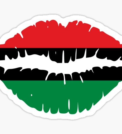 Afro-American flag Lips Sticker
