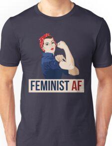 Feminist AF rosie riveter Unisex T-Shirt