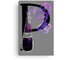 P is for Purple Poison Watercolor Painting Canvas Print