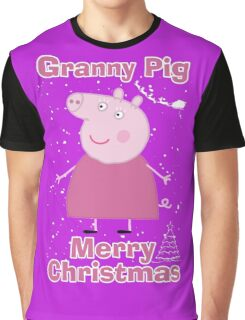 Granny pig (merry christmas) Graphic T-Shirt