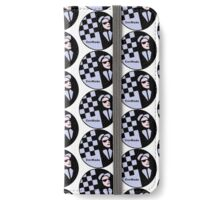 CovMade Sky Blue & Wht Rude Boy Badge Gift Collection iPhone Wallet/Case/Skin