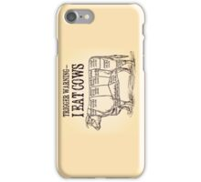 Meat Eater trigger warning iPhone Case/Skin