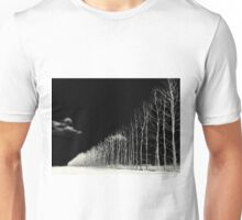 white trees Unisex T-Shirt