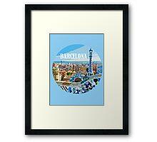 Barcelona is my home Framed Print