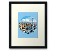 Barcelona is my home Framed Print