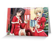 anime christmas Greeting Card