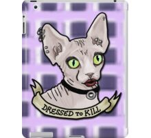 Dressed to Kill Sphynx iPad Case/Skin