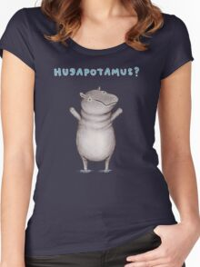 Hugapotamus? Women's Fitted Scoop T-Shirt