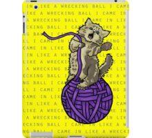 Wrecking Ball Kitty iPad Case/Skin