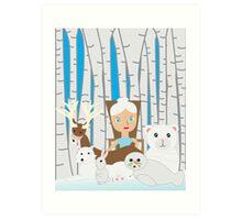 Mother Nature Winter Scene Art Print