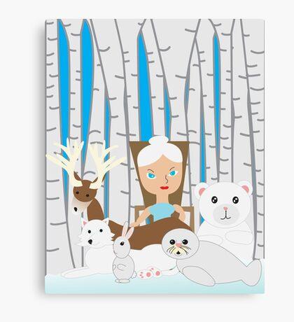 Mother Nature Winter Scene Canvas Print