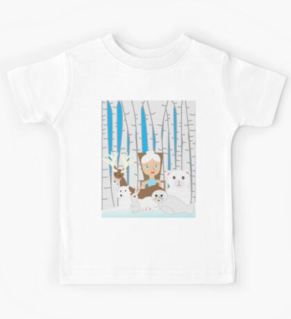 Mother Nature Winter Scene Kids Tee