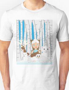 Mother Nature Winter Scene Unisex T-Shirt