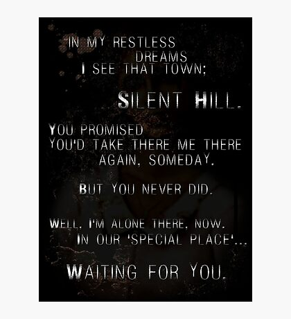 Silent Hill - Mary's Letter Photographic Print
