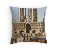 Lincoln Cathedral and precinct Throw Pillow