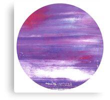 Japan moon : abstract purple Art Canvas Print