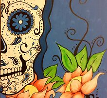 Blue lotus skull by SolitaireArt