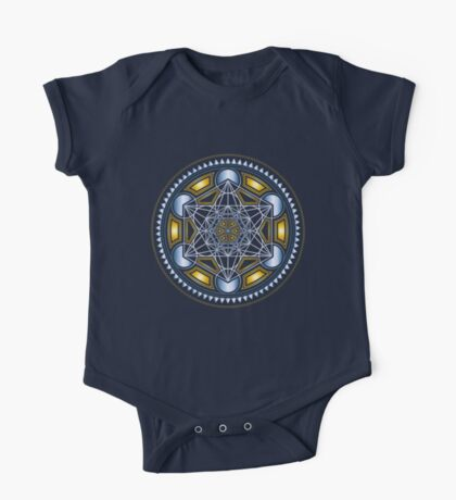 SACRED GEOMETRY - METATRONS CUBE - FLOWER OF LIFE - SPIRITUALITY - YOGA - MEDITATION One Piece - Short Sleeve