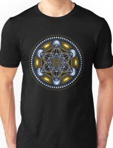 SACRED GEOMETRY - METATRONS CUBE - FLOWER OF LIFE - SPIRITUALITY - YOGA - MEDITATION Unisex T-Shirt