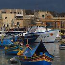 Marsaxlokk Boats ( 4:3 Version ) by wiggyofipswich