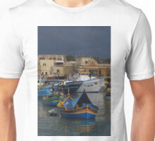 Marsaxlokk Boats ( 4:3 Version ) Unisex T-Shirt