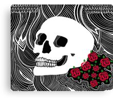 Back to Skull Canvas Print