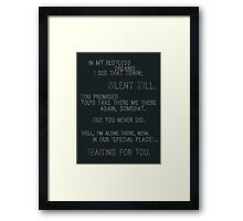 Silent Hill - Mary's Letter (Text) Framed Print