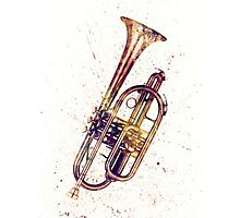 Cornet Abstract Watercolor Photographic Print
