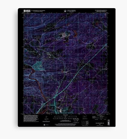 USGS TOPO Map Arkansas AR Malvern North 258999 2000 24000 Inverted Canvas Print