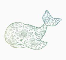 whale ii blue/yellow/green Kids Tee