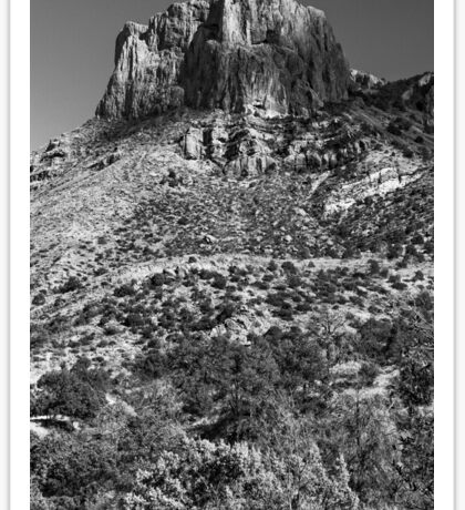 Mountain landscape in Big Bend National Park, Texas Sticker